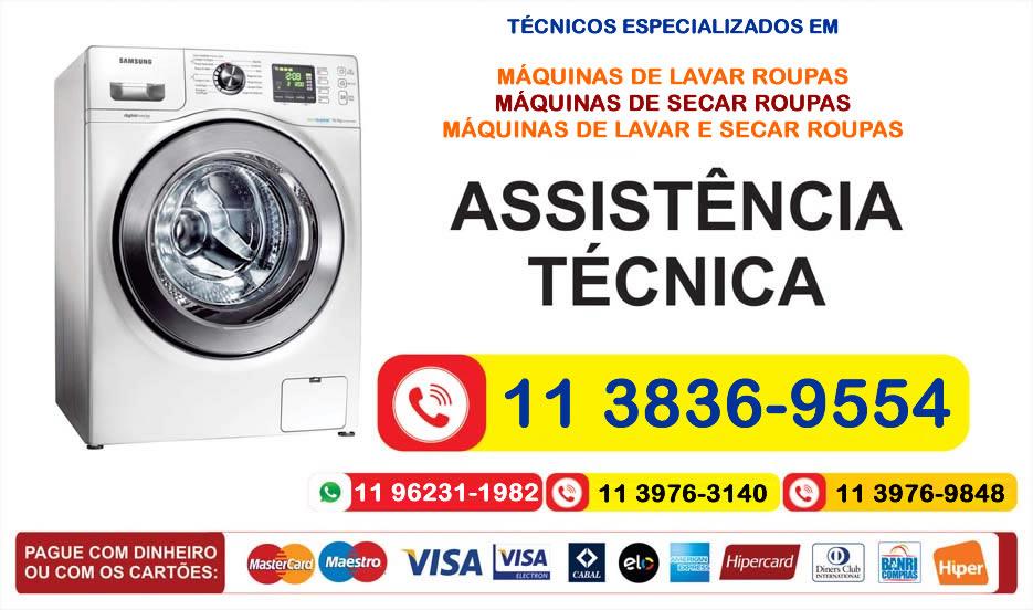 assistencia tecnica maquinas de lavar roupas