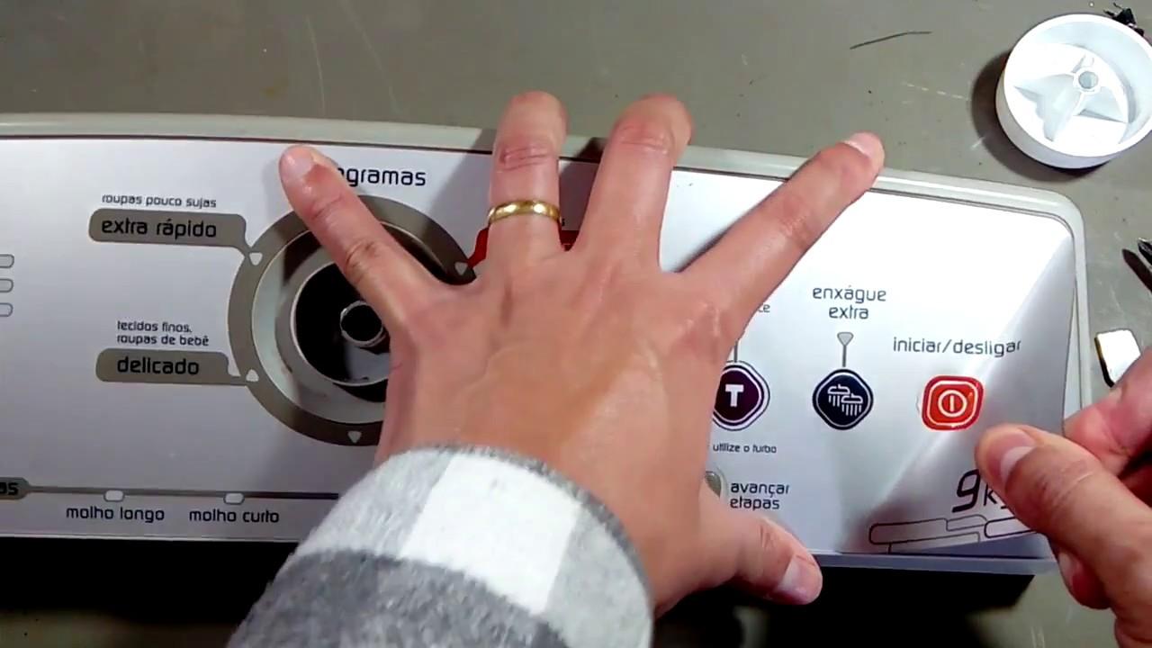 como consertar o botão de controle do nível de água máquina de lavar